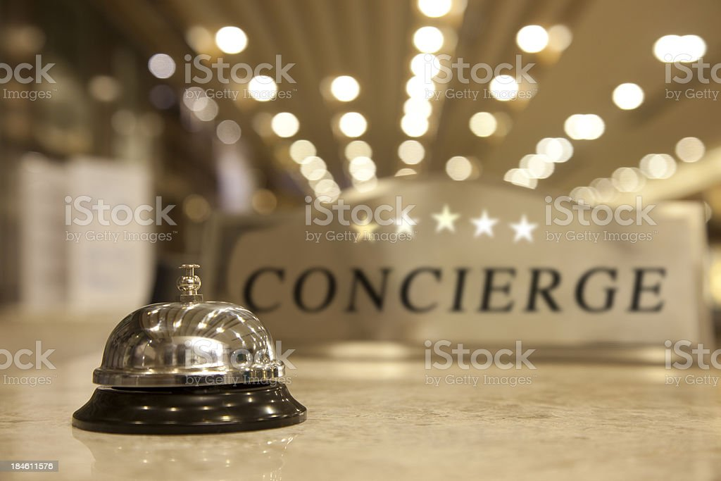 Concierge Bell stock photo
