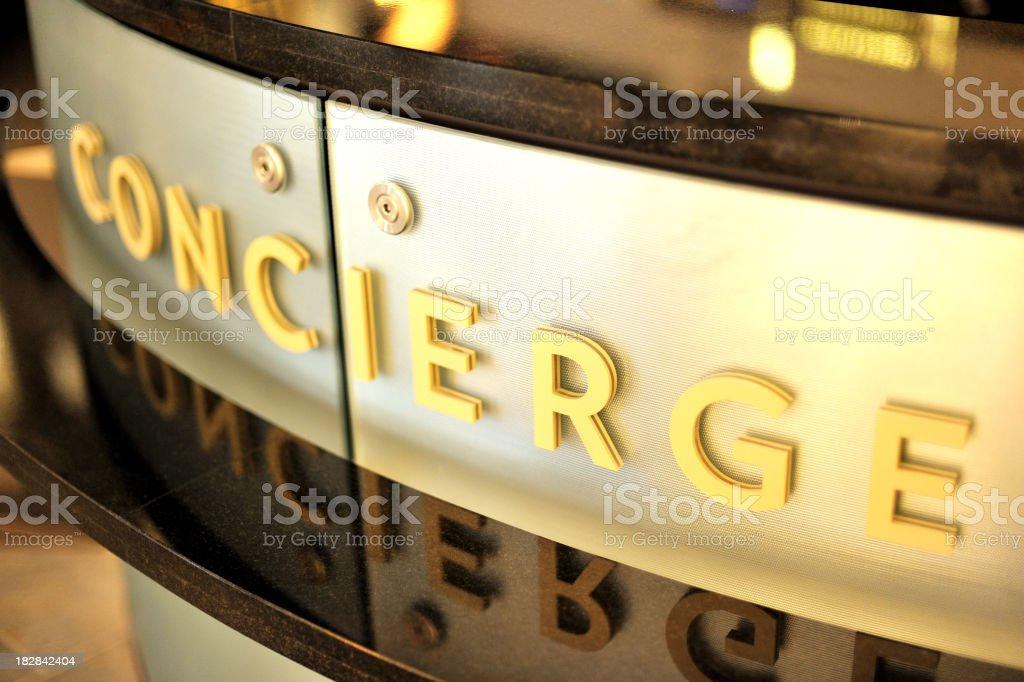 concierge desk stock photo