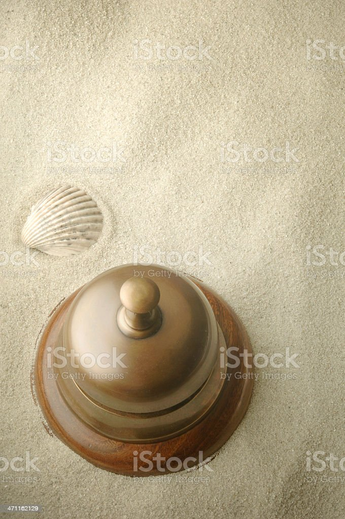 Concierge Service Bell royalty-free stock photo