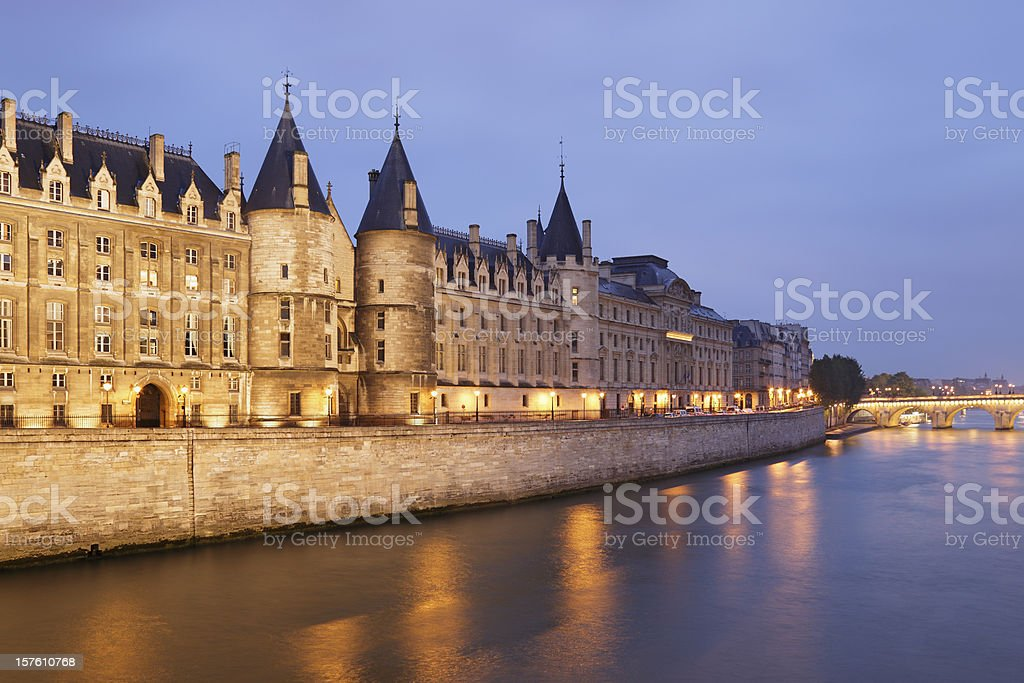 Conciergerie at Night royalty-free stock photo