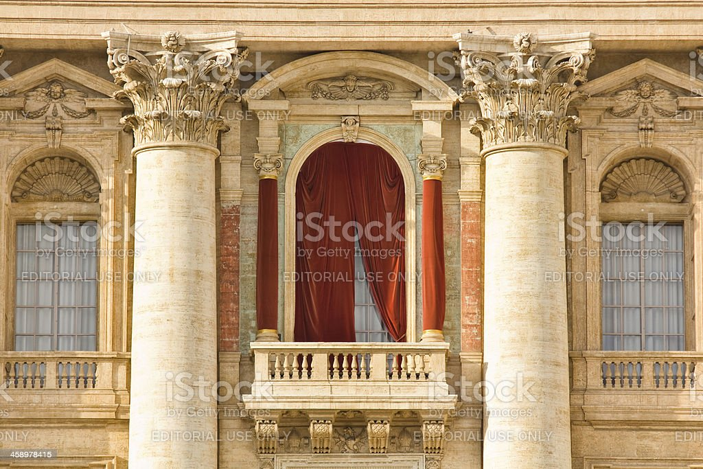 Conclave balcony, Vatican stock photo