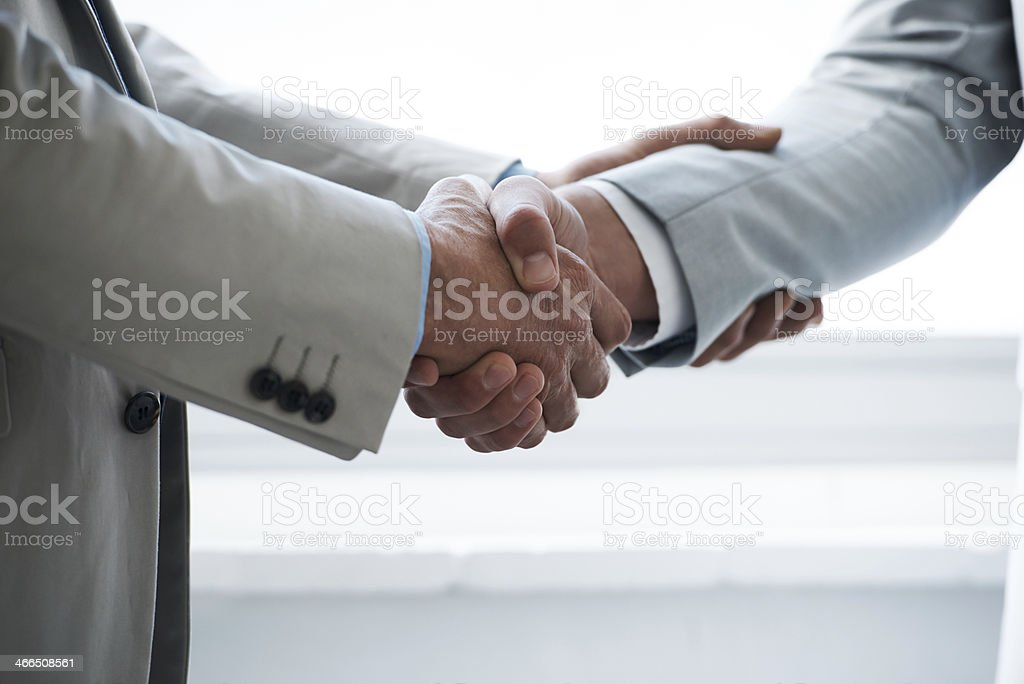 Concluding the deal stock photo