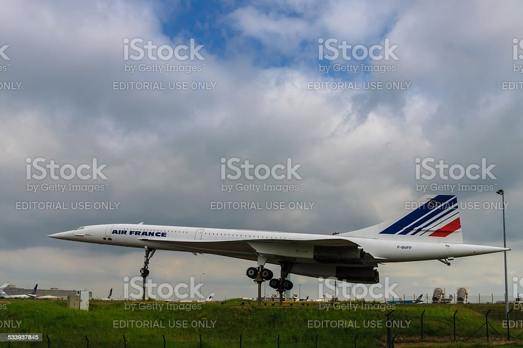 Concord at Charles De Gaul Airport stock photo