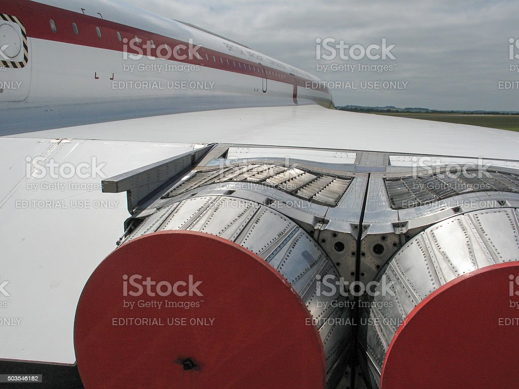 Concorde Aircraft Jet Turbine Section - Starboard stock photo