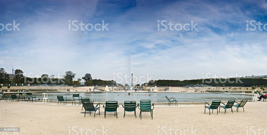 Concorde and Tuileries, Paris royalty-free stock photo