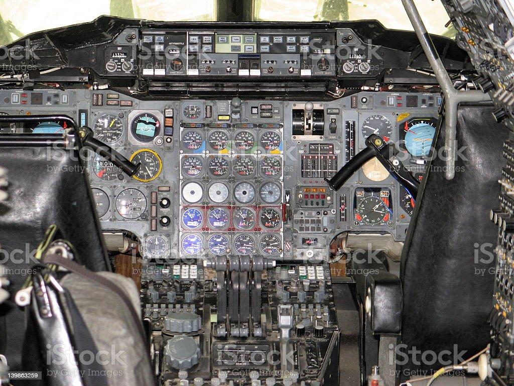 Concorde Cockpit royalty-free stock photo