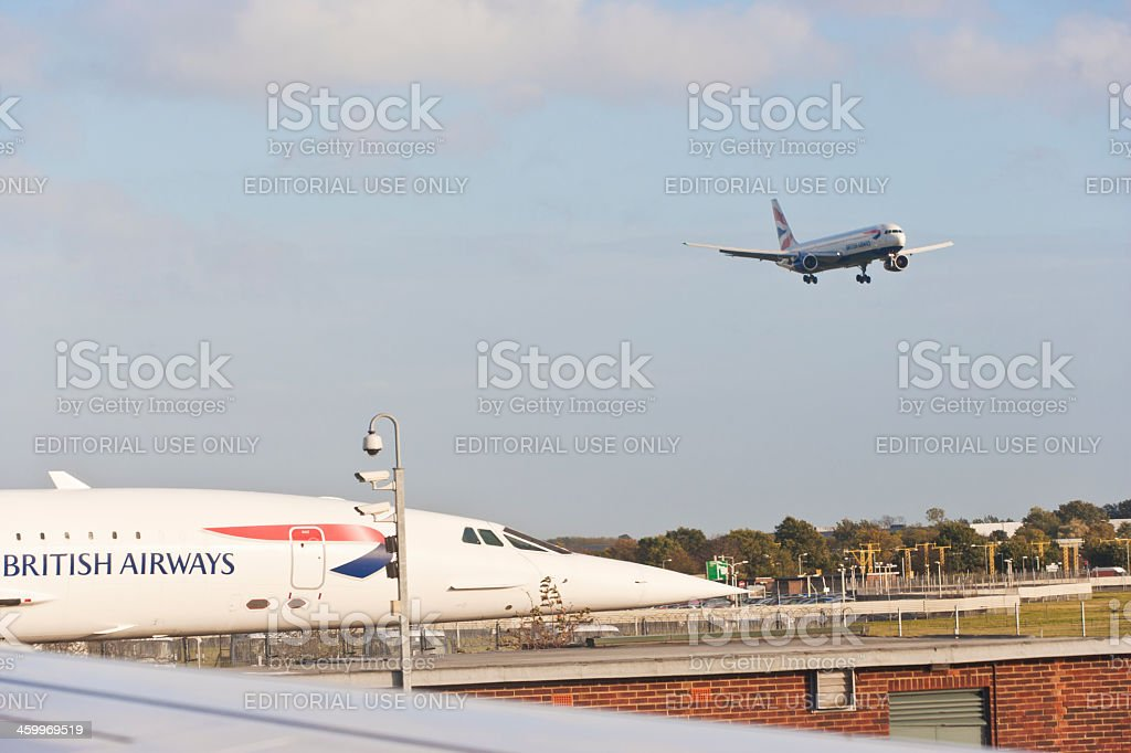 Concorde on London Heathrow airport royalty-free stock photo