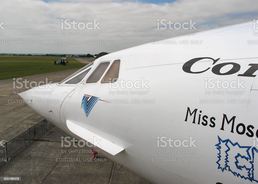Concorde Supersonic Commercial Aircraft stock photo