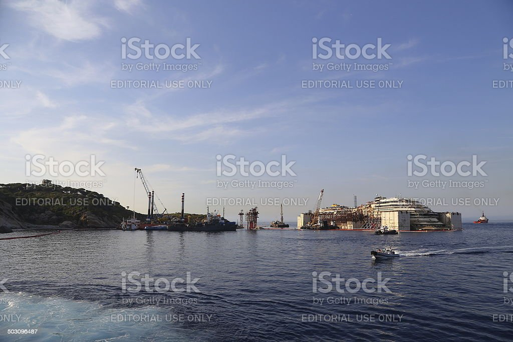 Costa Concordia stock photo