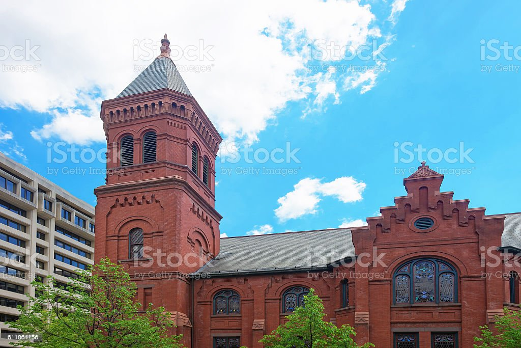 Concordia German Evangelical Church and Rectory in Washington DC USA stock photo