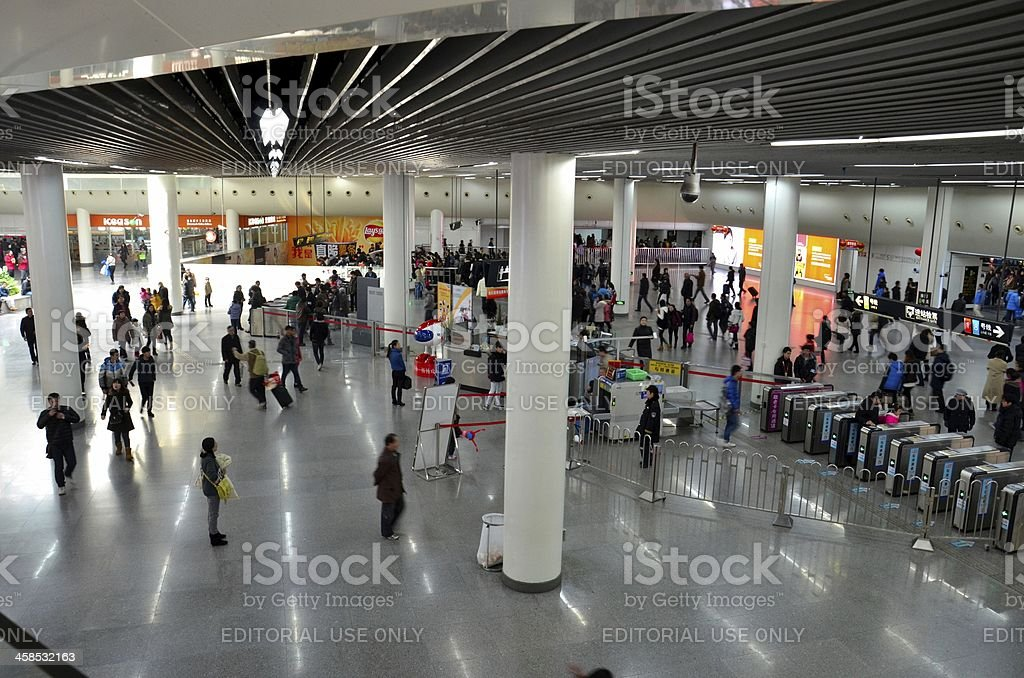 Concourse at People's Square Subway Station Shanghai, China royalty-free stock photo