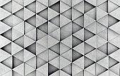 Concrete 3d prism wall