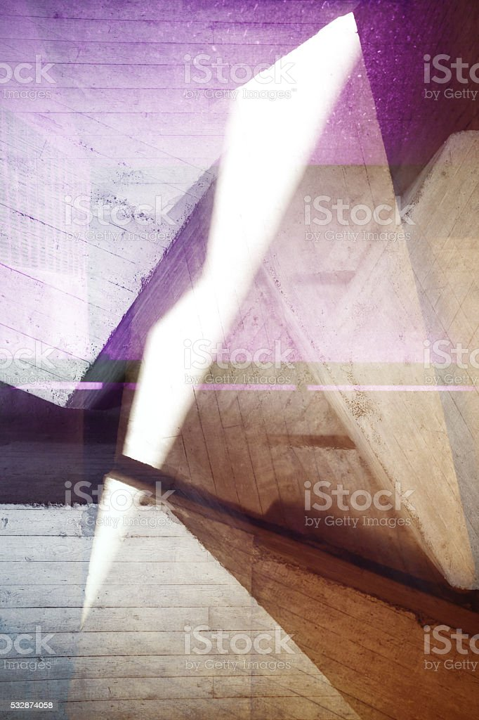Concrete abstraction stock photo