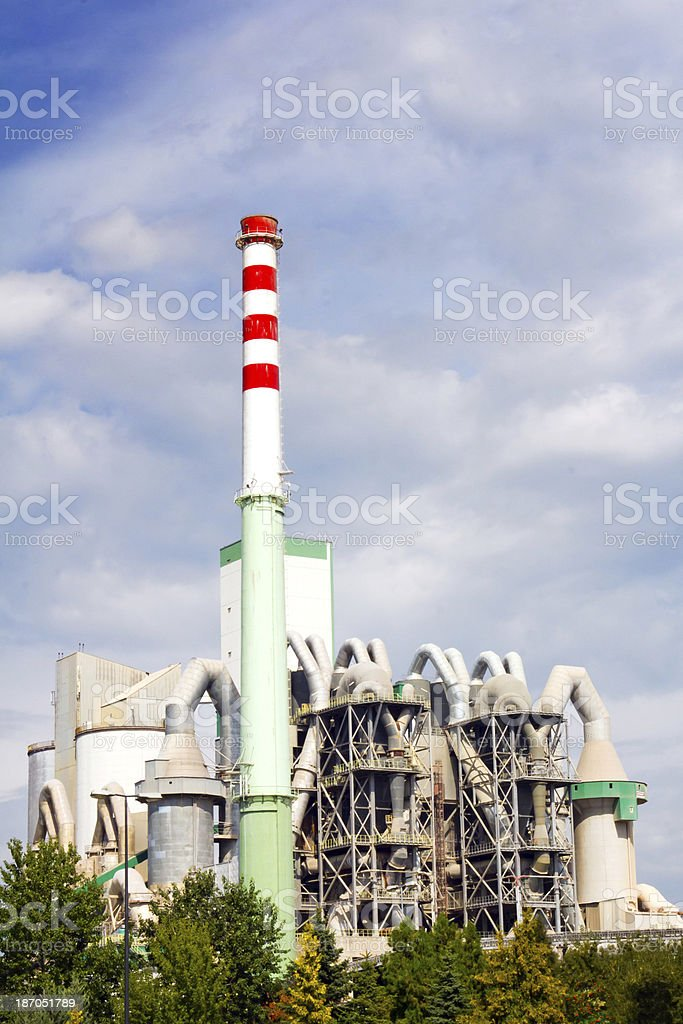 Concrete and cement factory, Poland royalty-free stock photo
