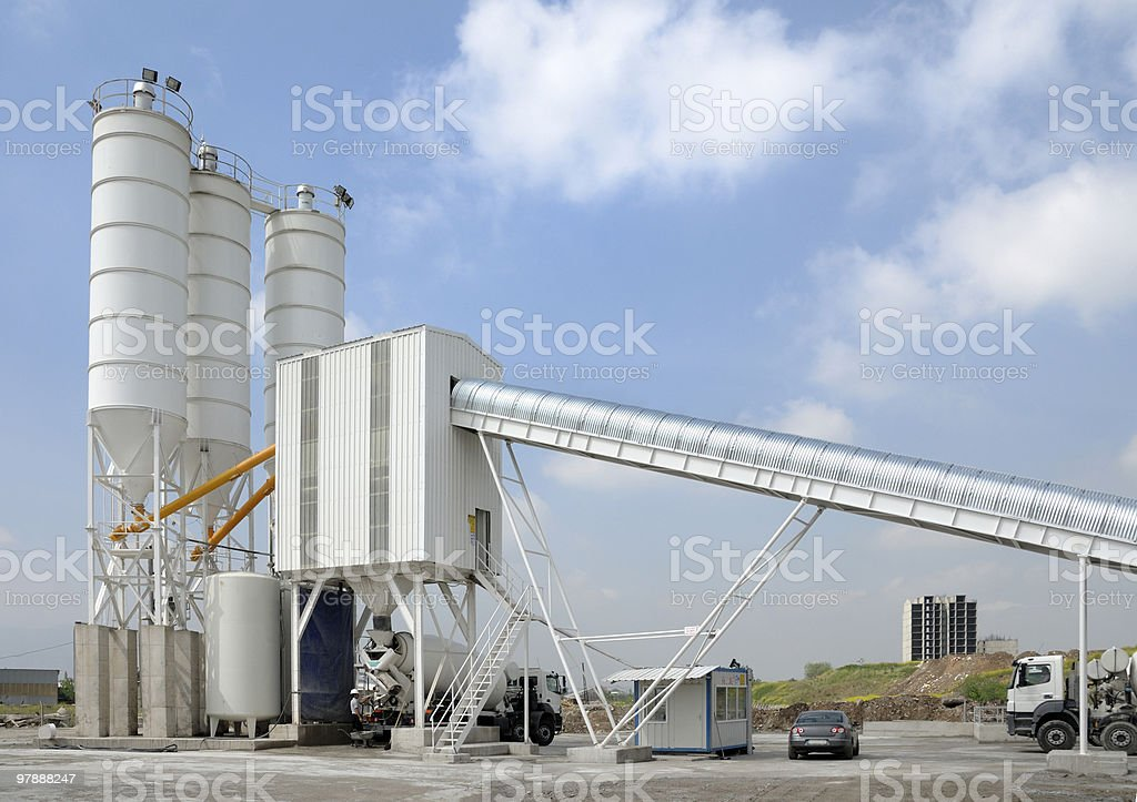 concrete and cement plant stock photo