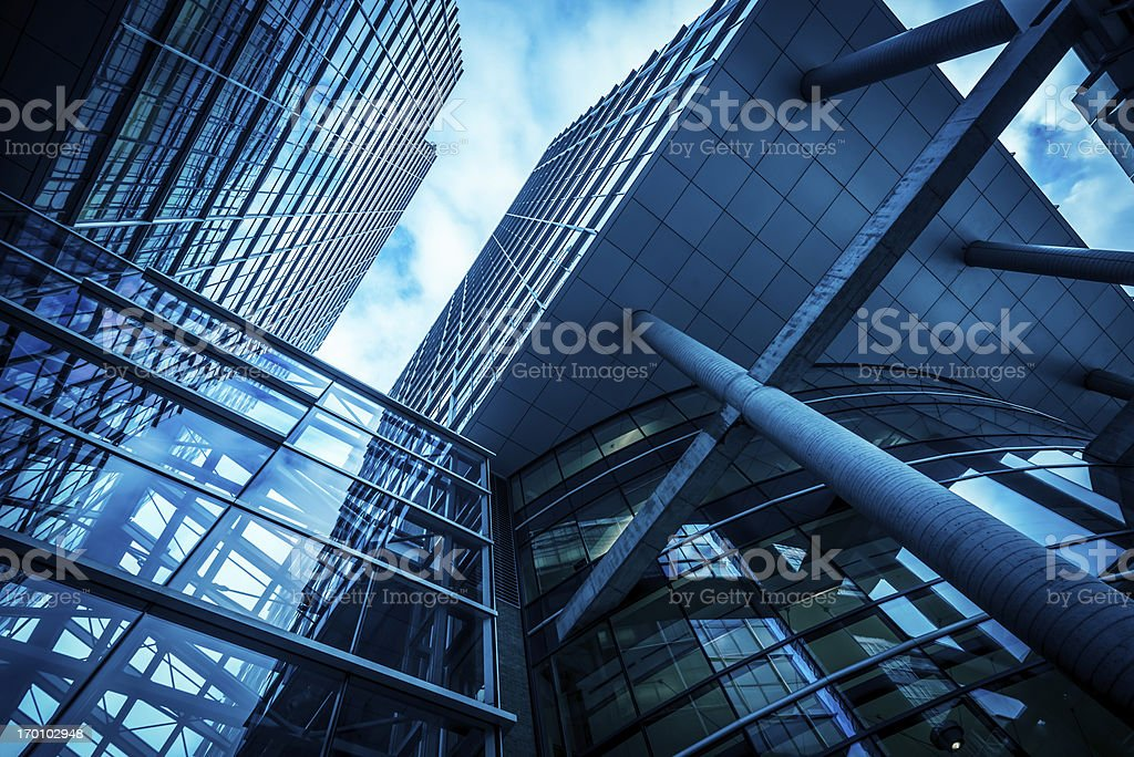 concrete and glass royalty-free stock photo