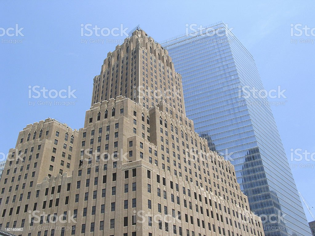 Concrete and Glass Skyscrapers royalty-free stock photo