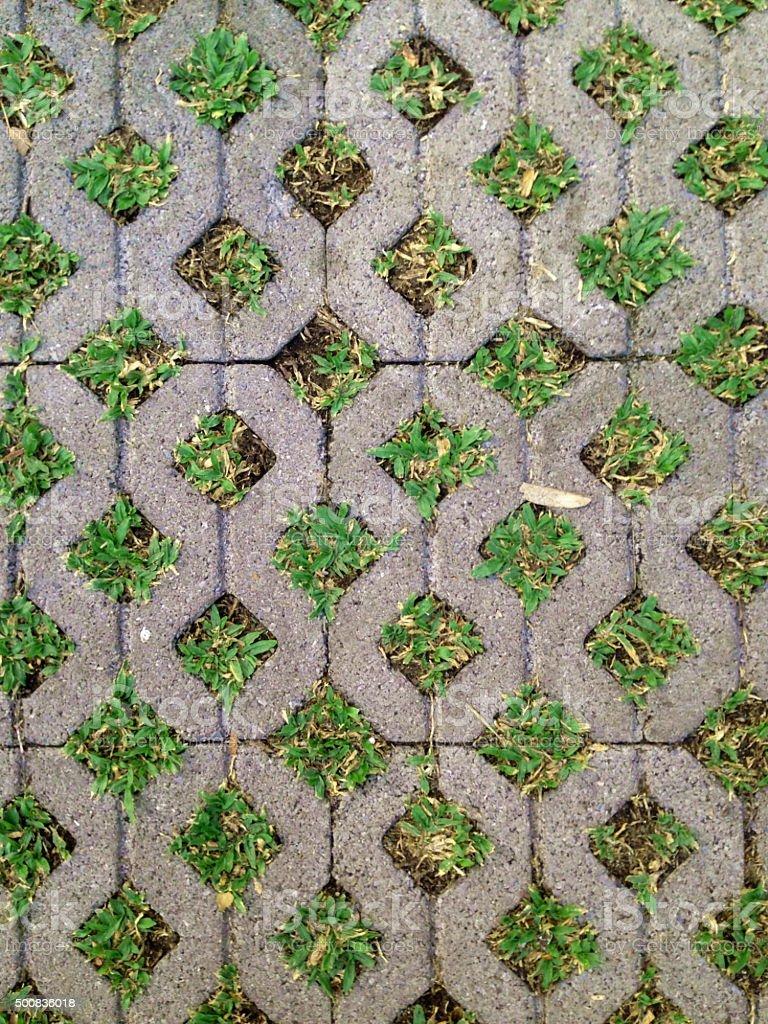 concrete and grass stock photo