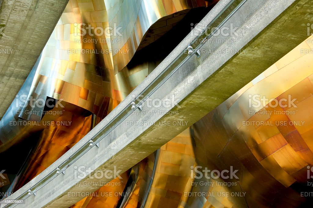 Concrete and Steel stock photo