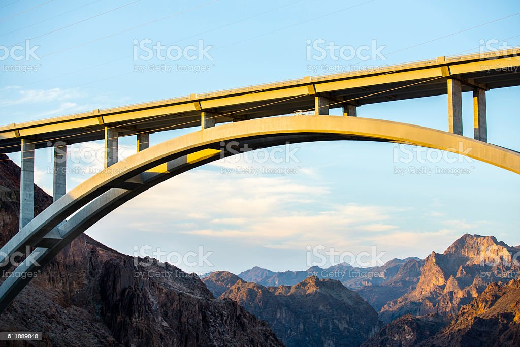 Concrete Arch Bridge stock photo