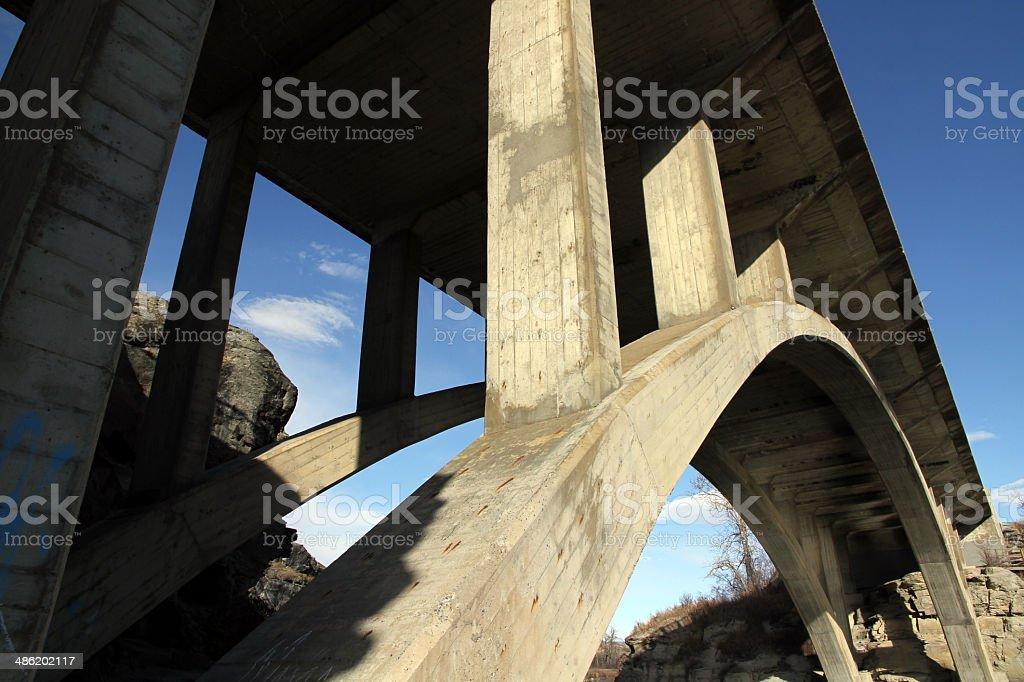 Concrete Arch royalty-free stock photo