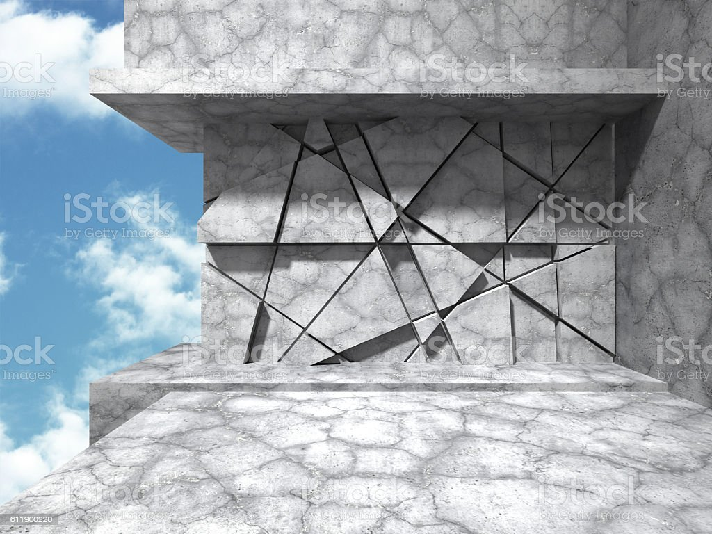Concrete architecture background. Abstract Building modern desig stock photo