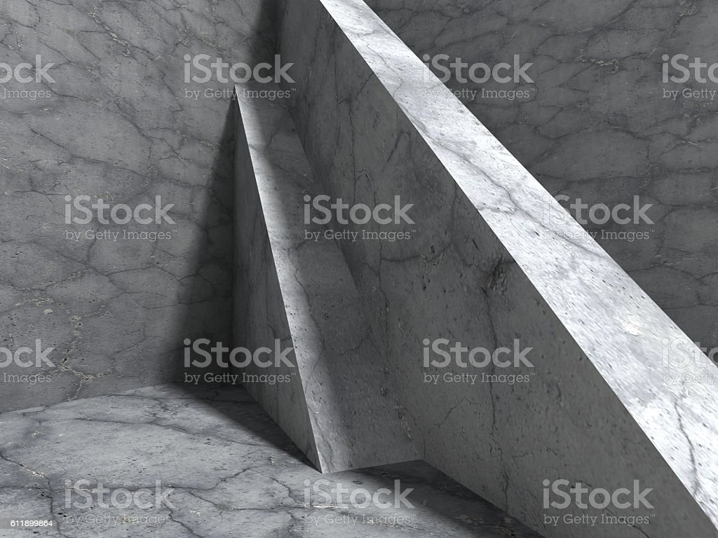 Concrete architecture background. Abstract cube construction stock photo
