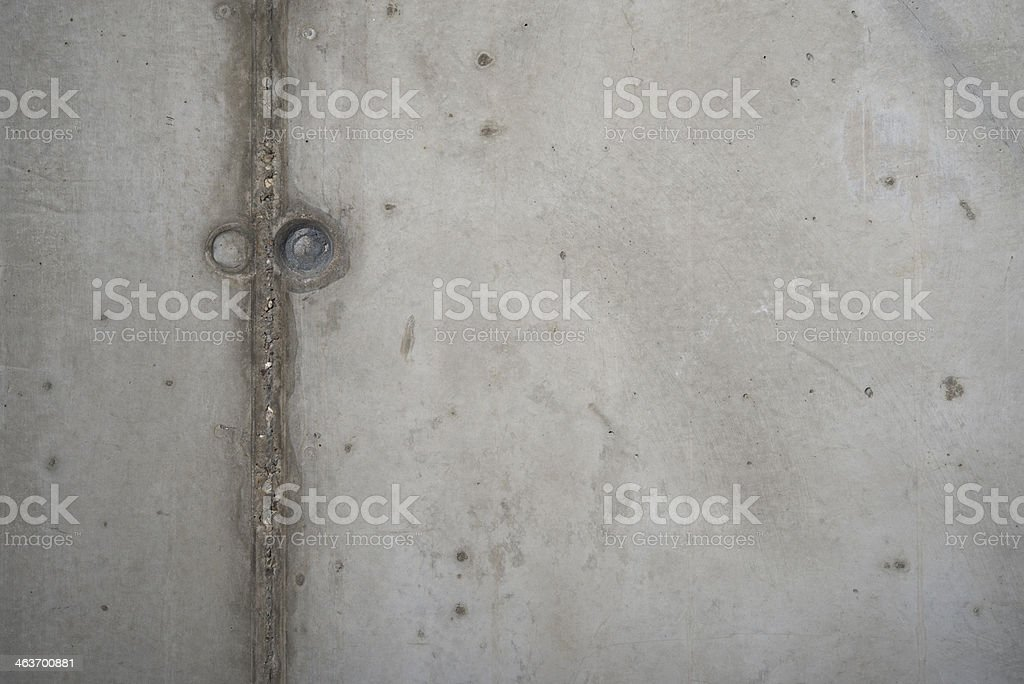 Concrete background with an expansion gap stock photo