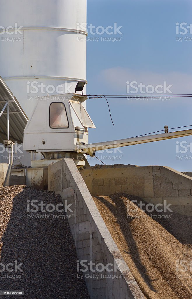 Concrete batching plant stock photo