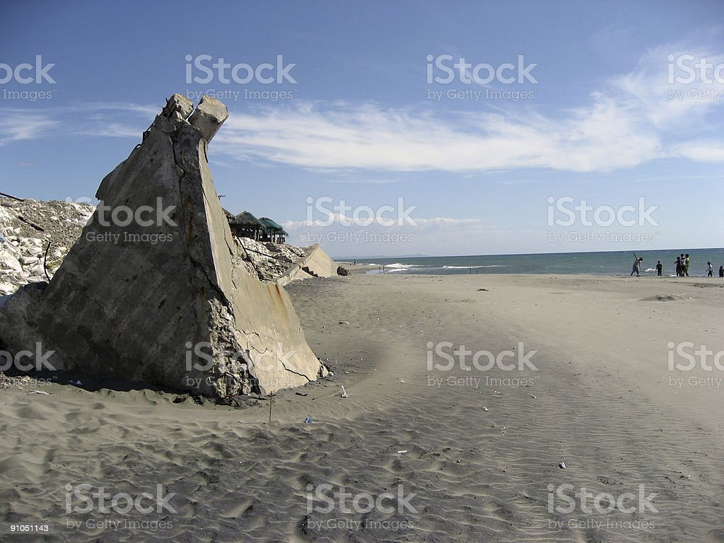 concrete beach royalty-free stock photo