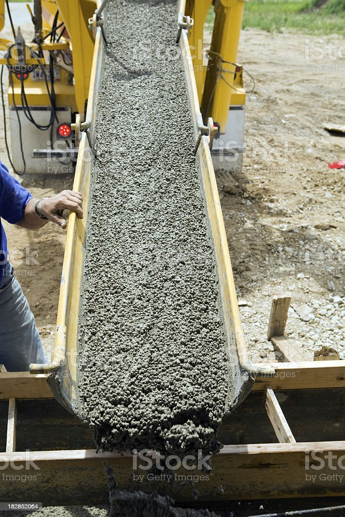 Concrete Being Offloaded for a Residential Front Entry Step royalty-free stock photo