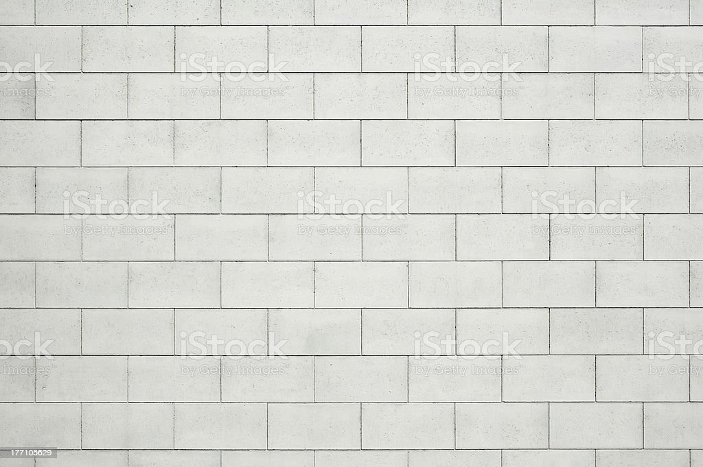 Concrete Block wall stock photo