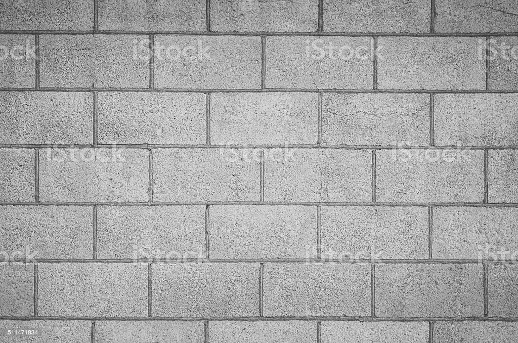 Seamless Block Wall : Concrete block wall seamless background and texture stock