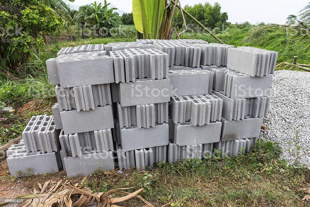concrete blocks pattern stock photo