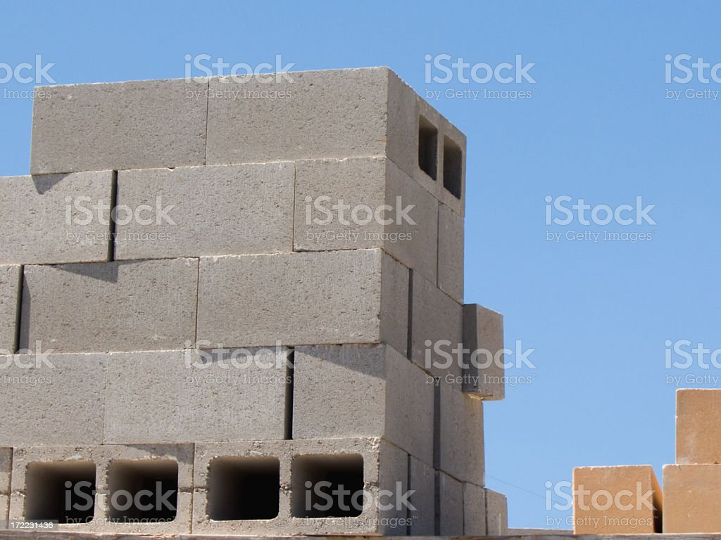 Concrete Blocks royalty-free stock photo