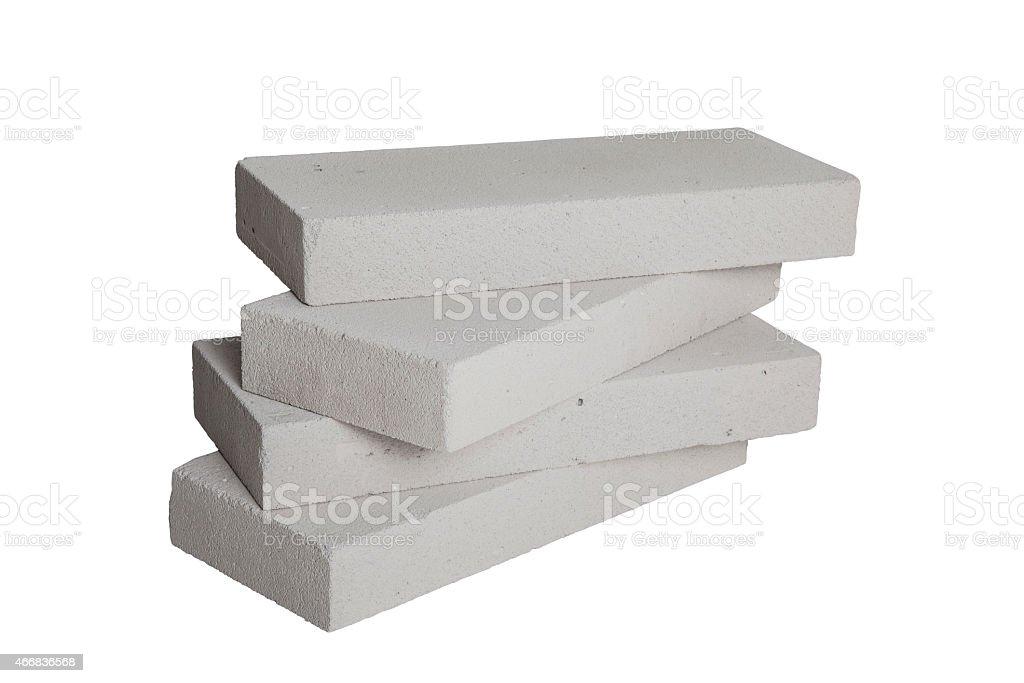 Concrete Blocks (including clipping path) stock photo