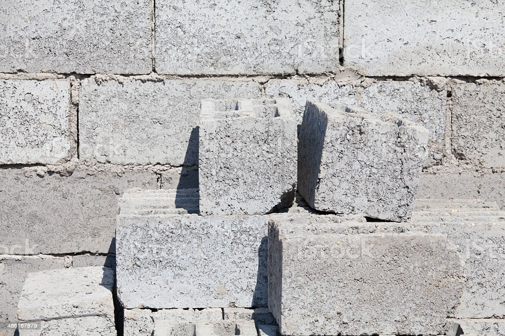 Concrete Blocks royalty-free stock photo