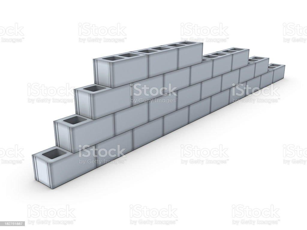 Concrete Blocks Wall royalty-free stock photo