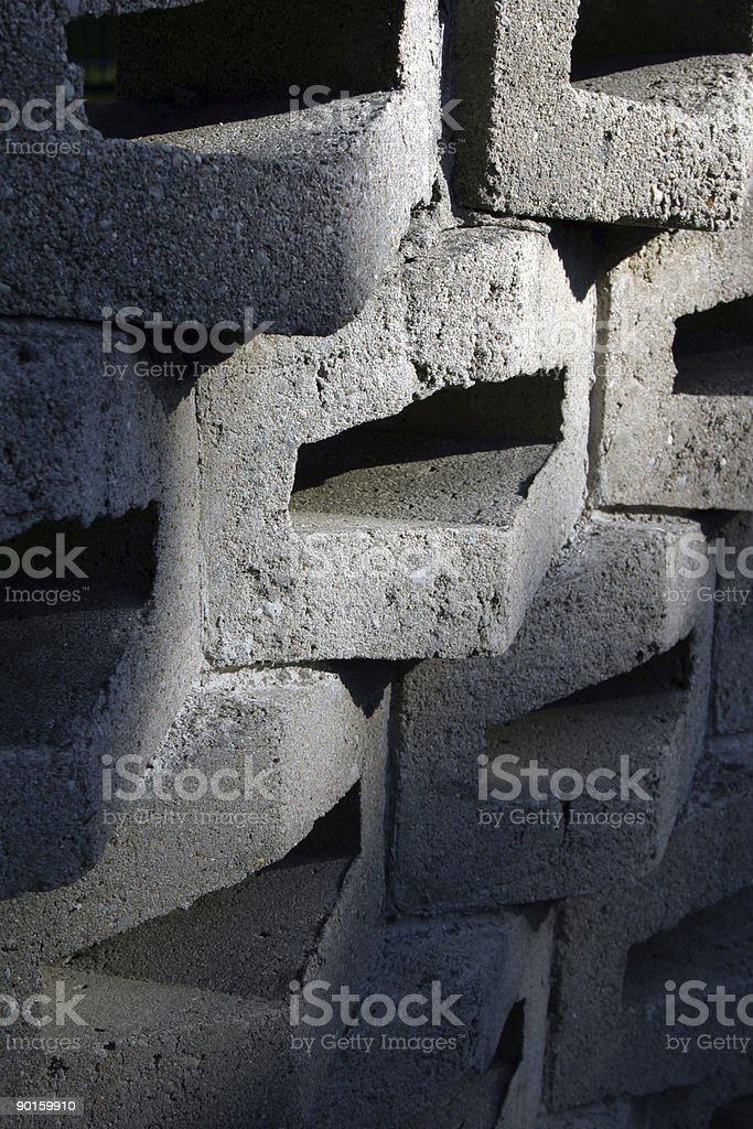 Concrete blocks wall royalty-free stock photo