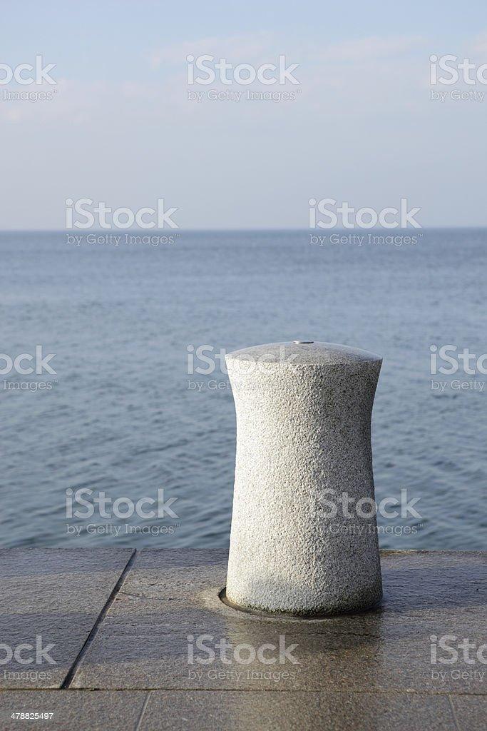 concrete bollard stock photo
