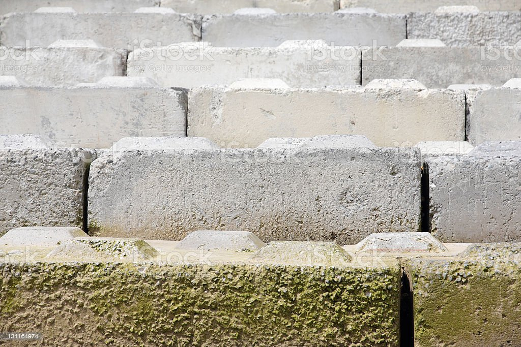 Concrete Breakwater Slabs royalty-free stock photo