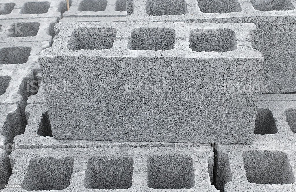 Concrete Bricks stock photo