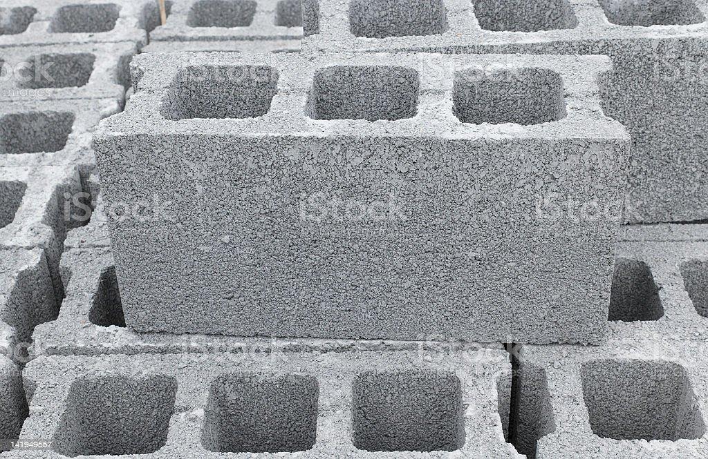 Concrete Bricks stock photo