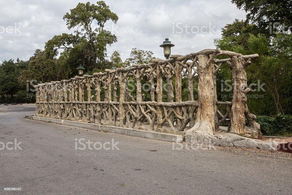 Concrete bridge Art stock photo
