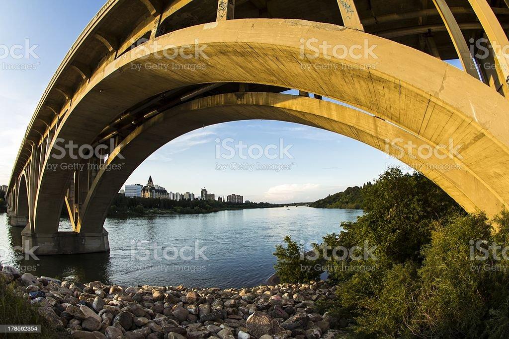 Concrete Bridge royalty-free stock photo