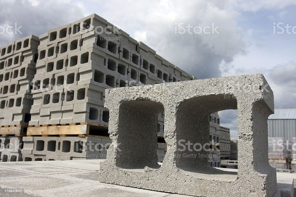 Concrete Building Block stock photo