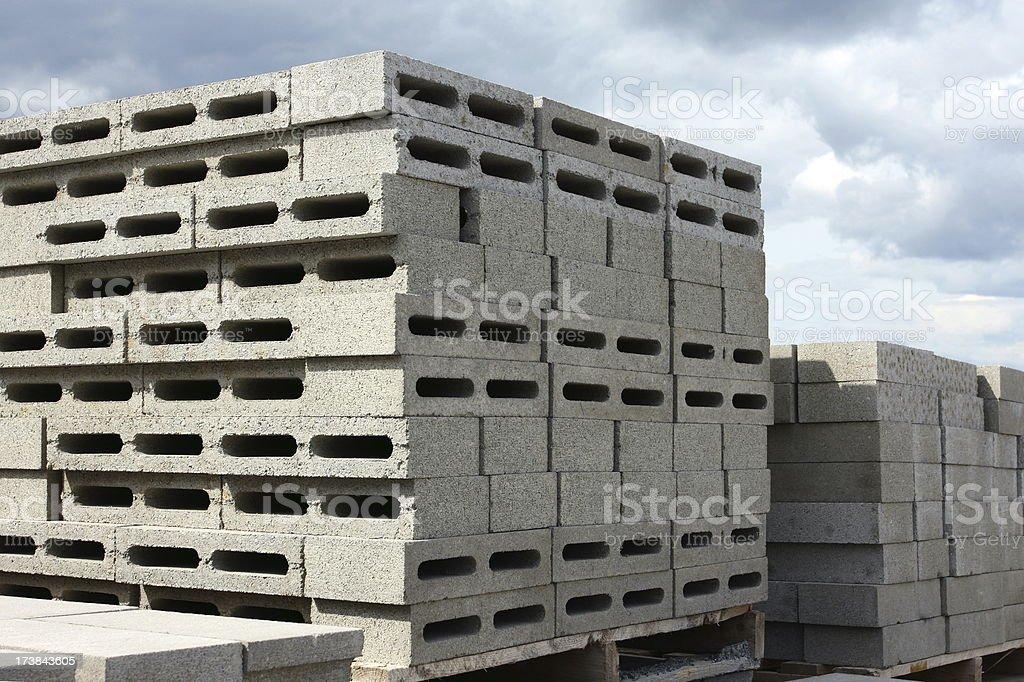 Concrete Building Blocks royalty-free stock photo