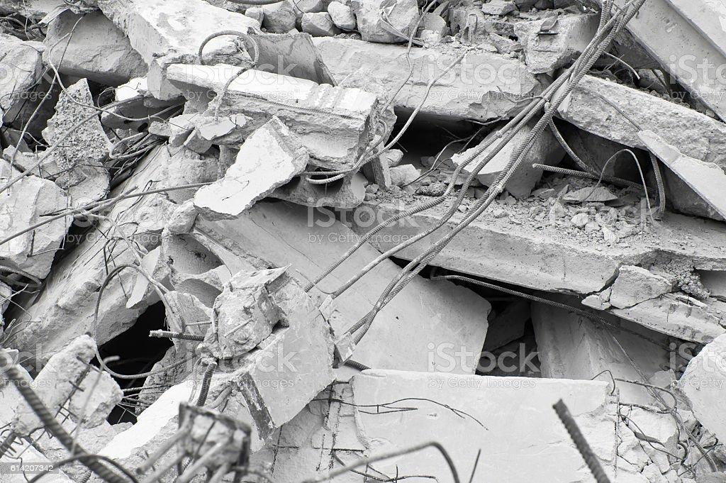 Concrete building ruins stock photo