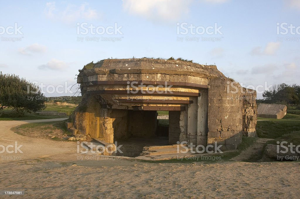 Concrete bunkers from WW2 royalty-free stock photo