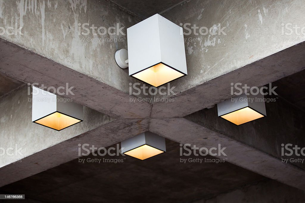 Concrete ceiling royalty-free stock photo